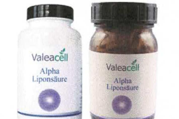 Zu hohe Menge von Alpha-Liponsäure in Valeacell – Alpha Liponsäure