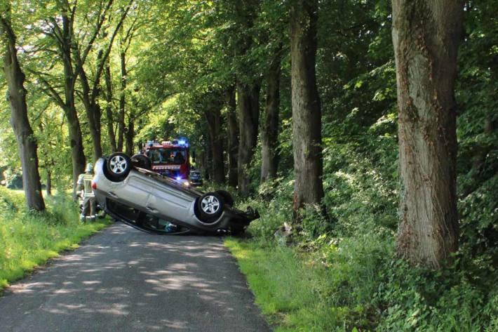 Die 76-Jährige aus Lüdinghausen befreite sich selbstständig aus dem Auto