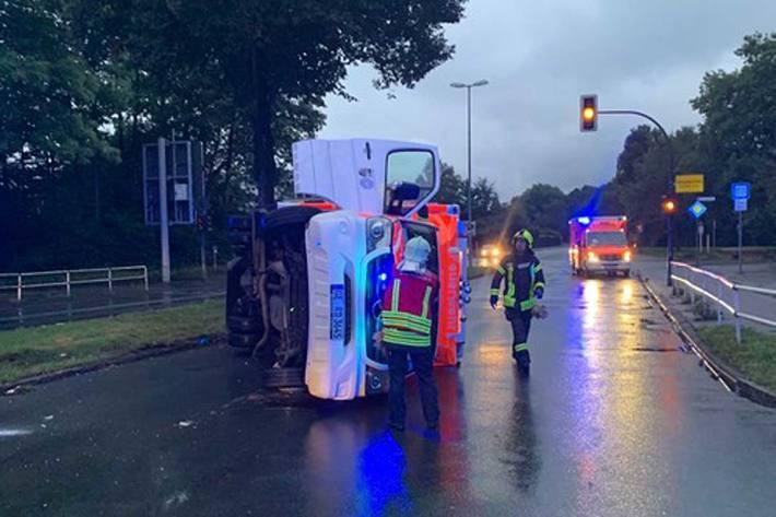 In Gelsenkirchen befand sich kein Patient an Bord des Rettungswagens