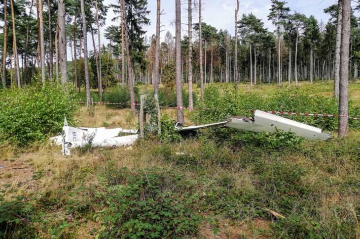 Nach bisherigen Erkenntnissen stürzte das Segelflugzeug kurz nach dem Start in Oerlinghausen ab