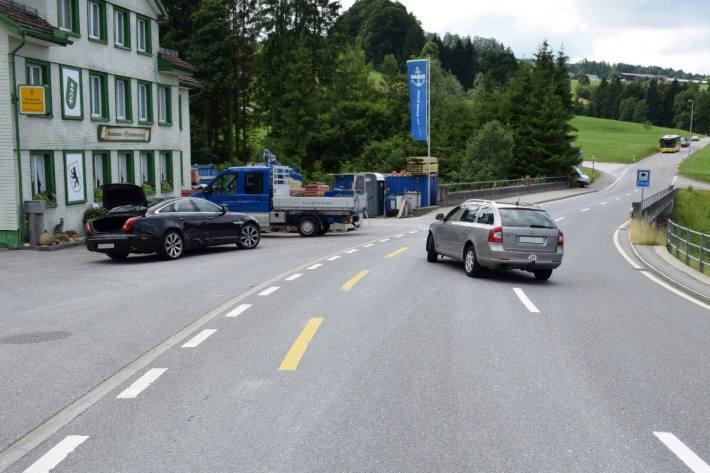 Beim Unfall in Herisau AR von gestern wurde niemand verletzt.
