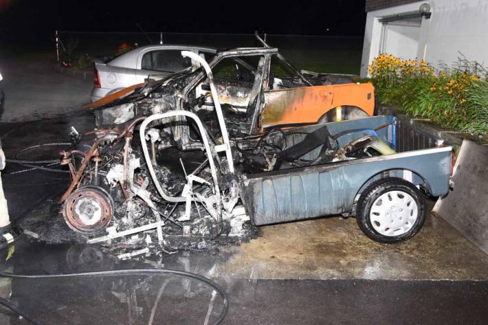 Alle drei Autos erlitten in Thal einen Totalschaden