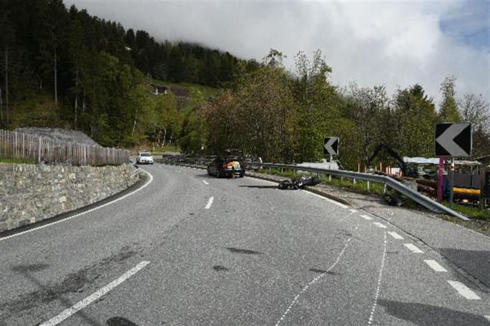 Unfallstelle bei Churwalden