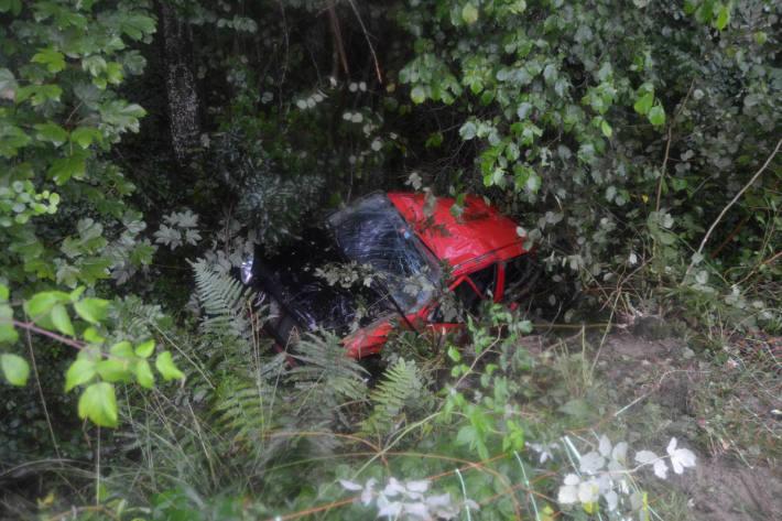 Bei Selbstunfall in Rehetobel mit Auto überschlagen