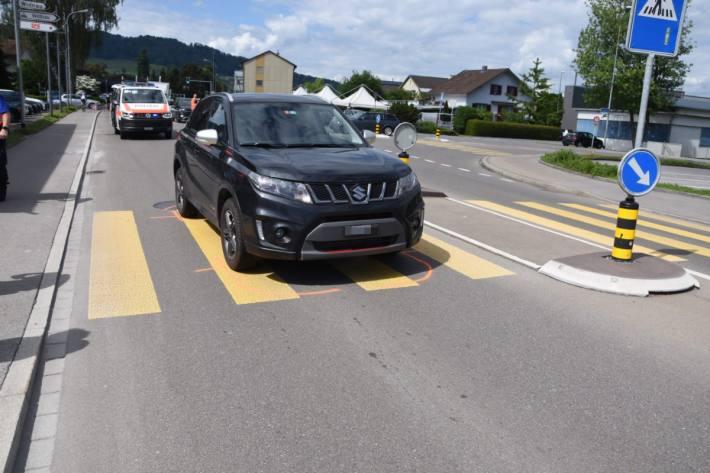 Auf dem Fussgängerstreifen in Heerbrugg kam es zu einem Unfall.
