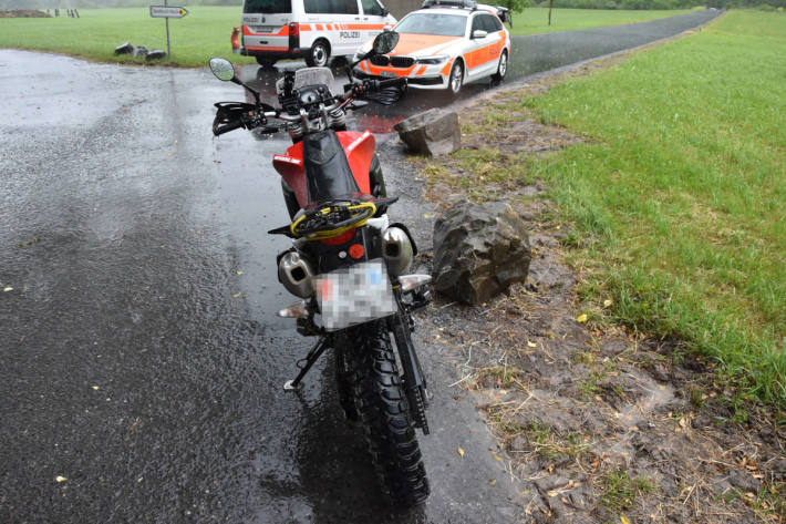 Mit Motorrad verunfallt bei Walenstadt