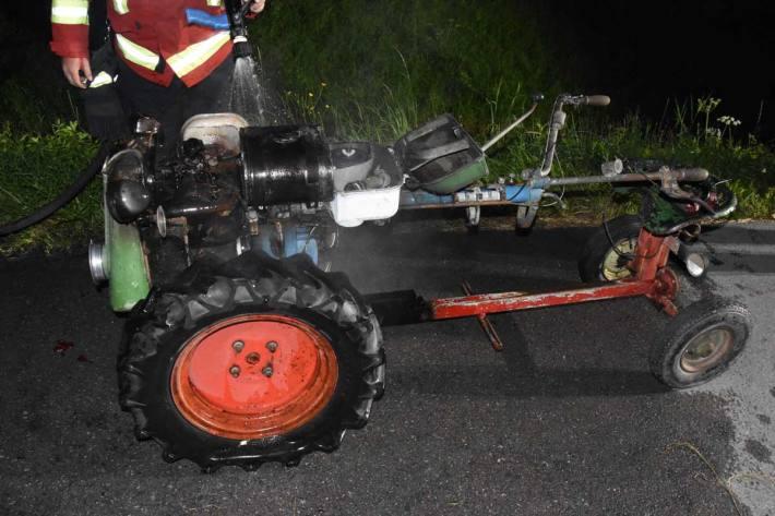 Fahrzeugbrand in Kriessern