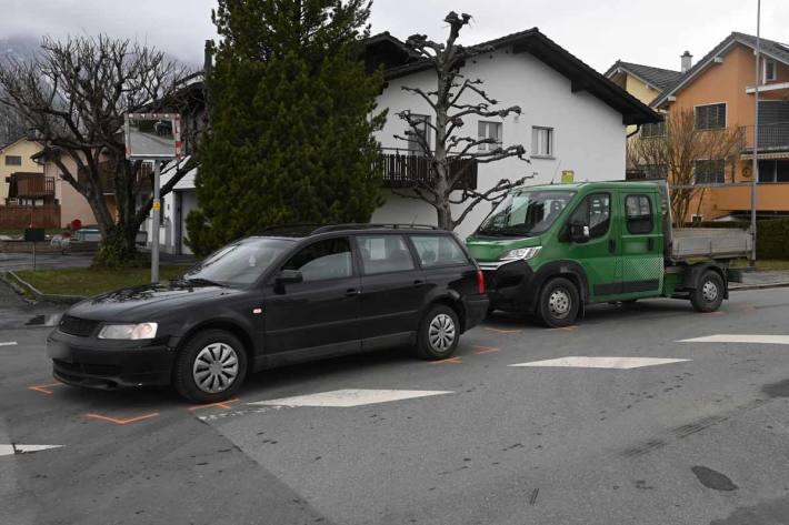 An beiden Fahrzeugen entstand Sachschaden in Ruggell