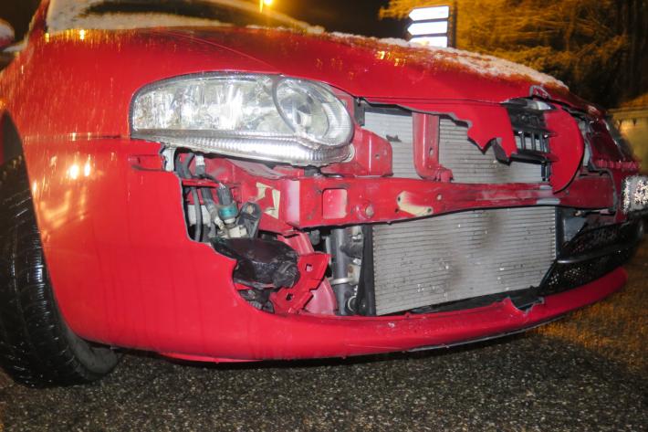 Die Autofahrerin übersah den Roller.