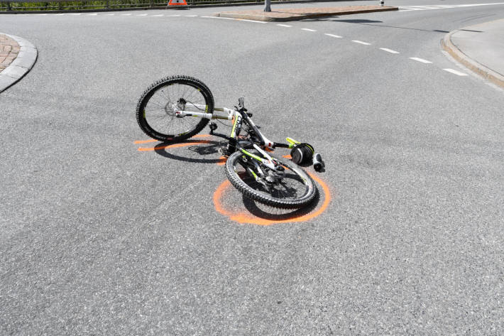 Am Unfall beteiligtes Fahrrad in Chur