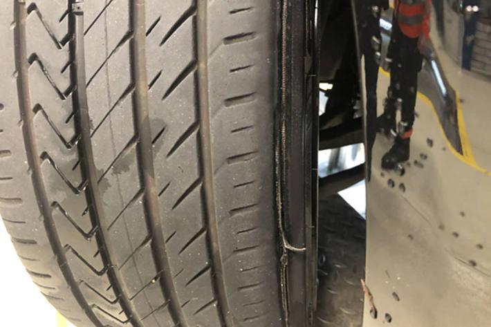 Abgelaufene Reifen