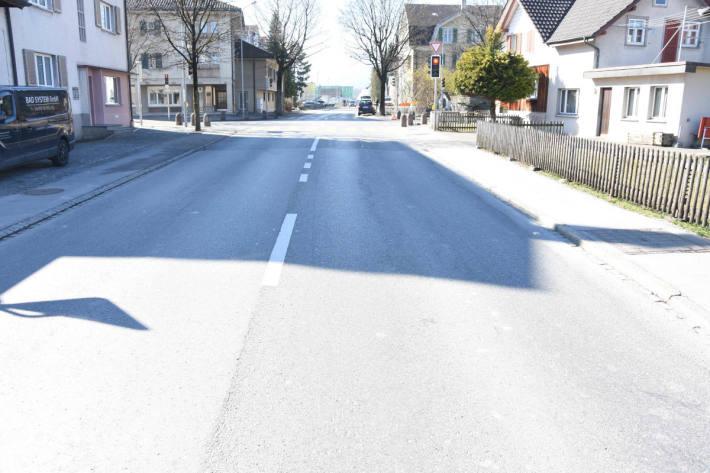 Unfallstelle in Widnau