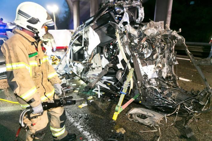 Tödlicher Verkehrsunfall auf der A14