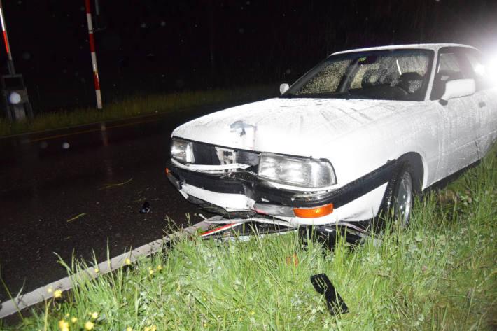 Selbstunfall mit Personenwagen in Herisau