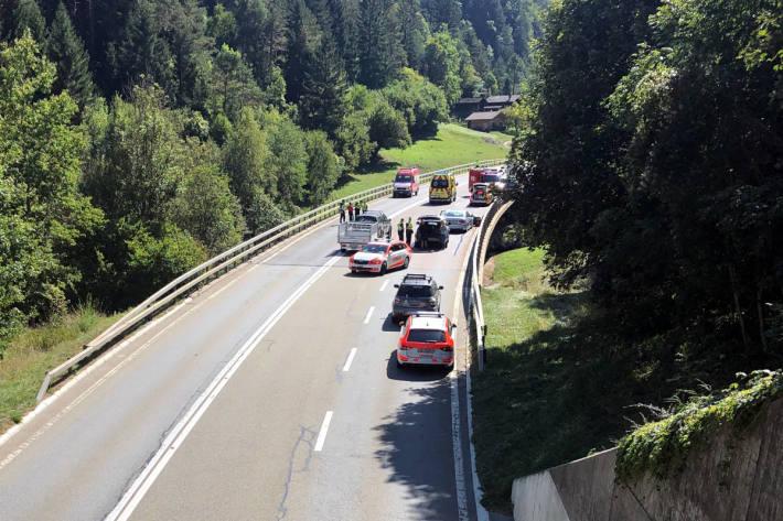 Unfallstelle bei La Douay / Osières