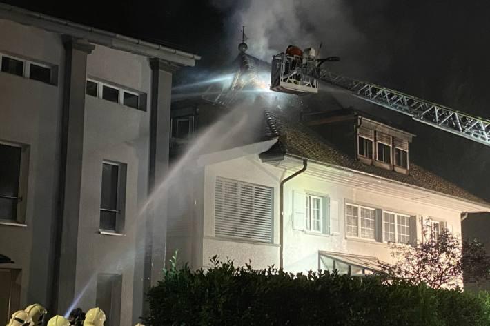 In Aarburg AG brannte es gestern in einem Einfamilienhaus.