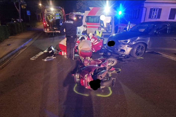 Alkoholisierter Pkw-Lenker kollidierte mit Moped