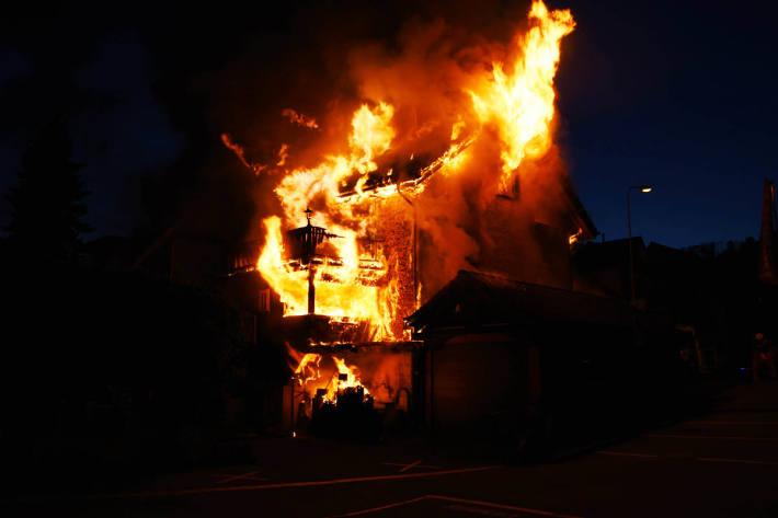Das Haus brannte in  Eschenbach vollständig nieder