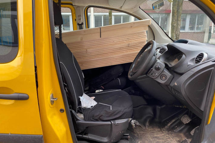 Kein freie Sicht aus dem Fahrzeug