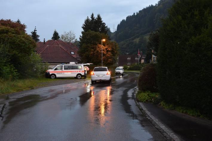 Gestern ist in Wattwil SG ein Kind von einem Auto angefahren worden.