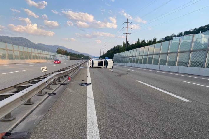 Selbstunfall aufgrund von Alkoholeinfluss auf der A1