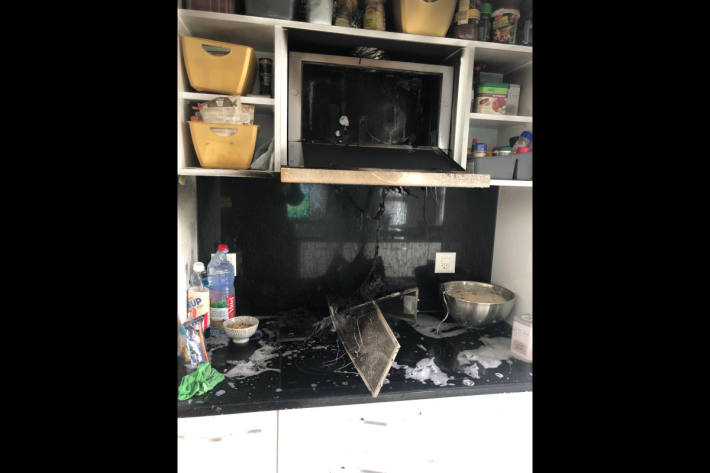 Brandschaden nach Küchenbrand in Sevelen