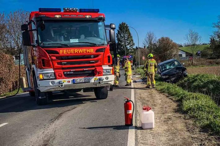 Tödlicher Verkehrsunfall in Stolberg