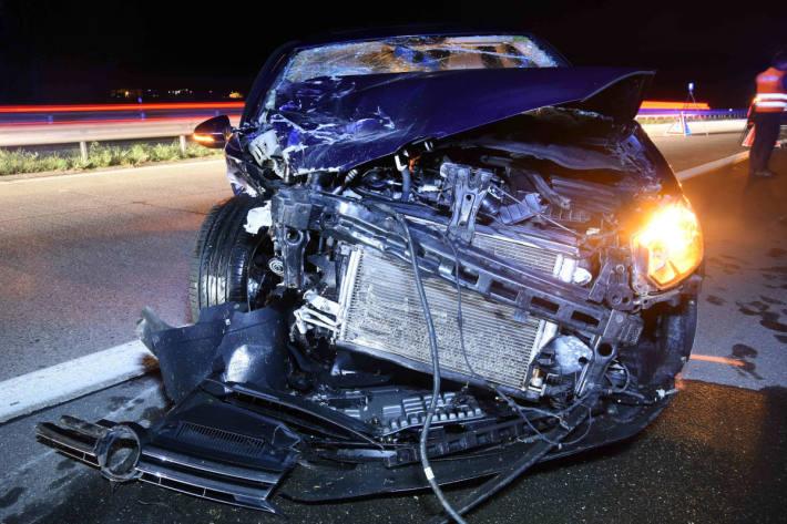 Heftige Auffahrkollision auf Autobahn forderte mehrere Verletzte
