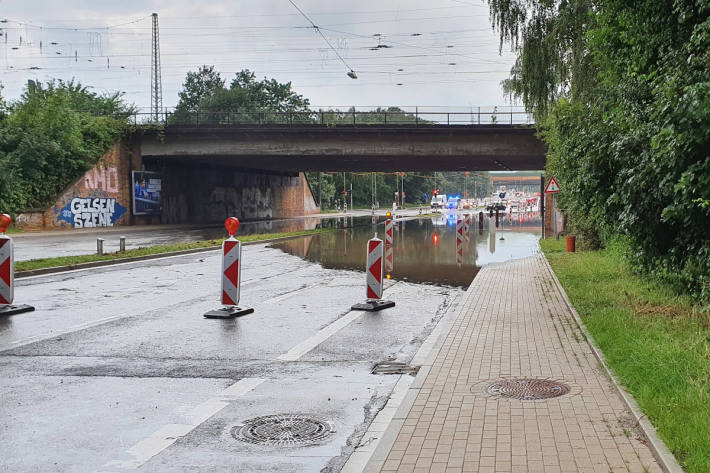 Gewitter mit Starkregen in Recklinghausen