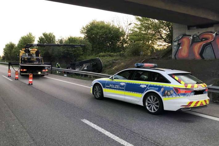 Der Fahrer blieb in Edenkoben unverletzt