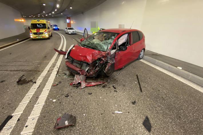 Unfall im Tunnel in Lenzburg