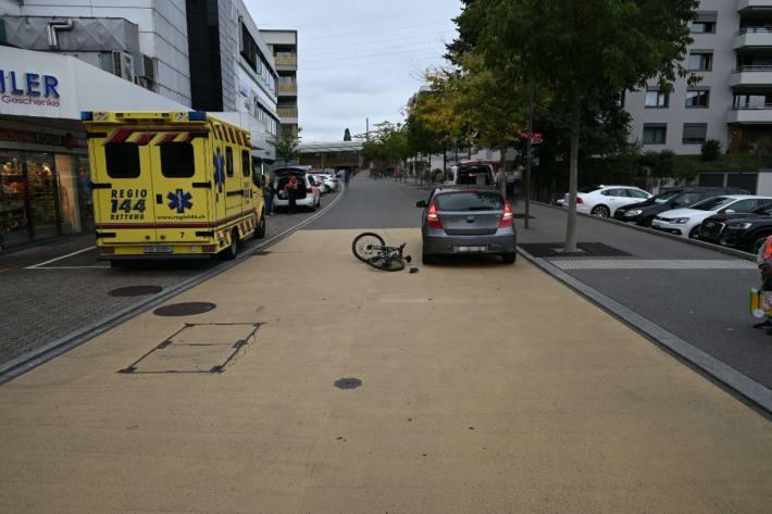 In Rapperswil-Jona SG ist gestern ein Kind verunfallt.