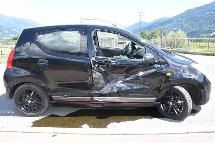 Beim Unfall von gestern in Mels SG ist grosser Sachschaden enstanden.