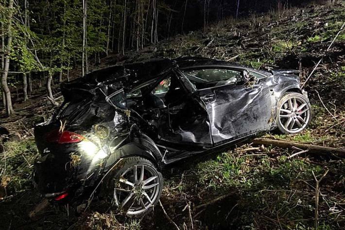Spektakulärer Verkehrsunfall Mittwochabend für die FF Melk