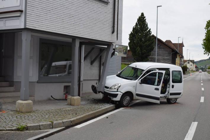 Unfallstelle in Hundwil AR