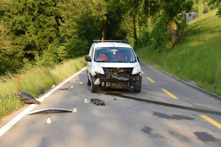 Ein schwerer Verkehrsunfall gestern in Thayngen SH.