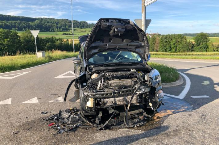 Heftiger Crash gestern in Weiningen TG.