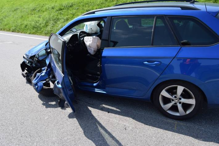 Heftiger Crash gestern in Trogen AR.
