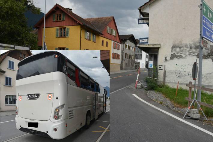 Unfall mit Reisebus in Schaan.