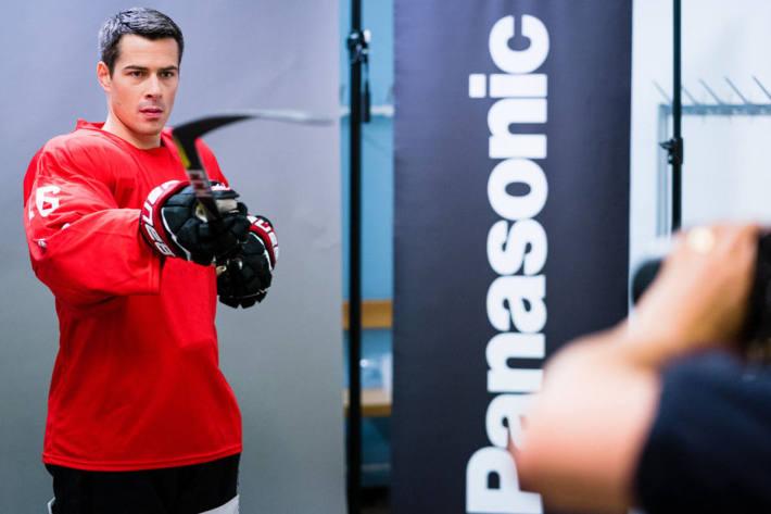 Raphael Diaz beim Shooting für Panasonic.