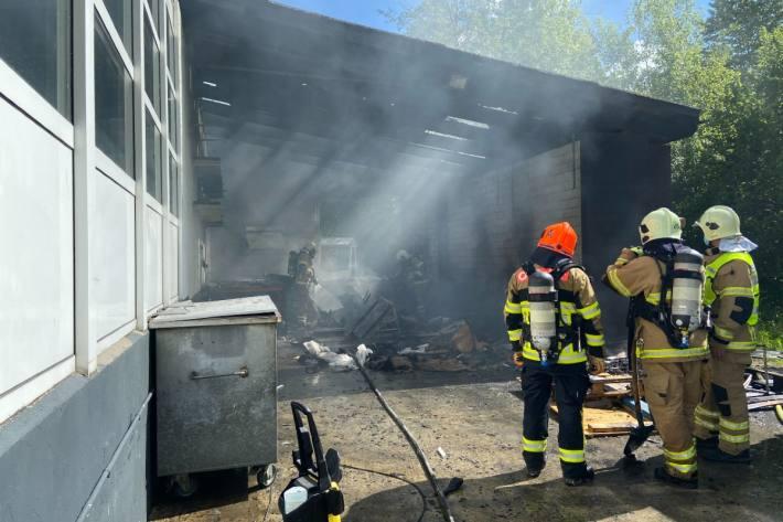 Grosser Sachschaden beim Brand in Siglistorf AG.