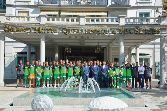 Der FC St. Gallen im Grand Resort Bad Ragaz.