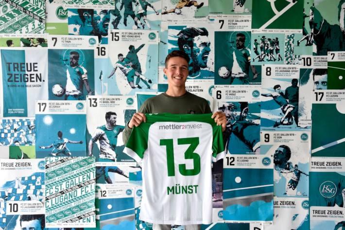 Leonhard Münst neu beim FC St.Gallen.