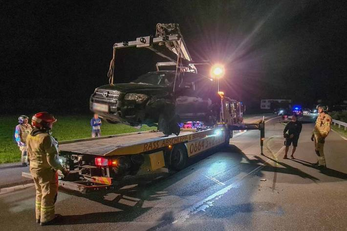 An den Unfallfahrzeugen entstand erheblicher Sachschaden