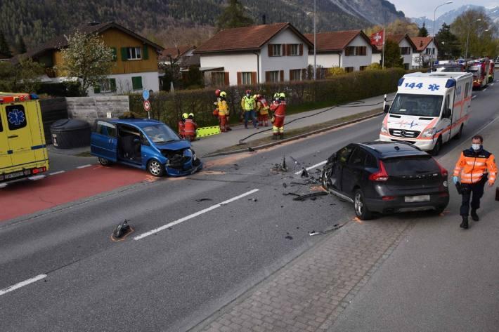 Gestern kam es in Domat/Ems GR zu einem heftigen Crash.