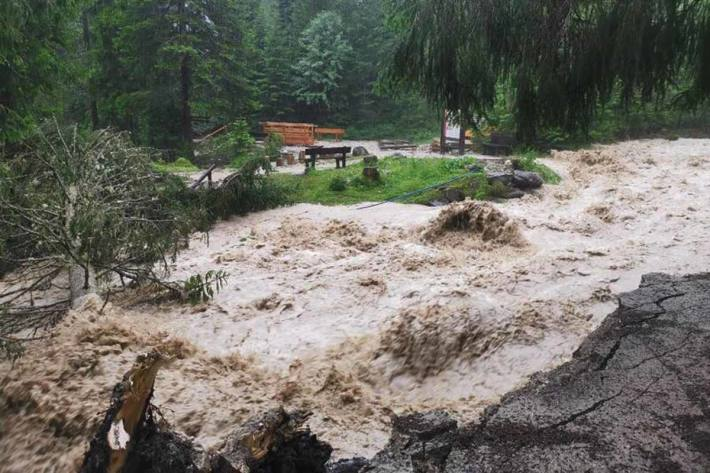 Hochwasser in Leutasch