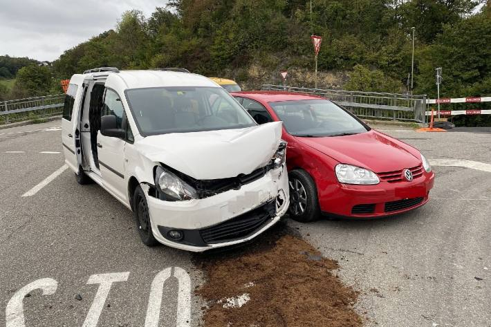 In Ramlinsburg BL ereignete sich gestern eine Kollision ohne Verletzten.