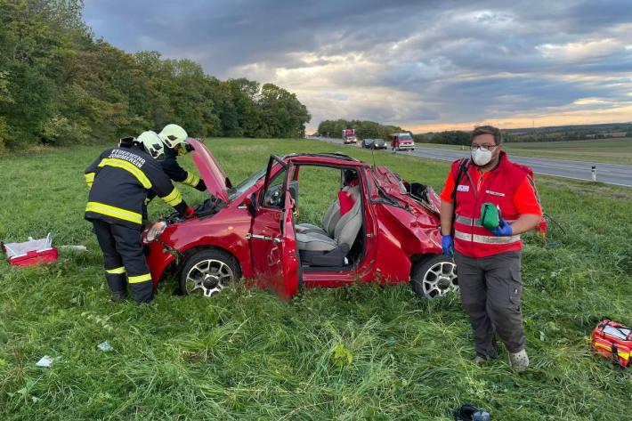 Unfall fordert schwer verletzten Mann bei Sommerein