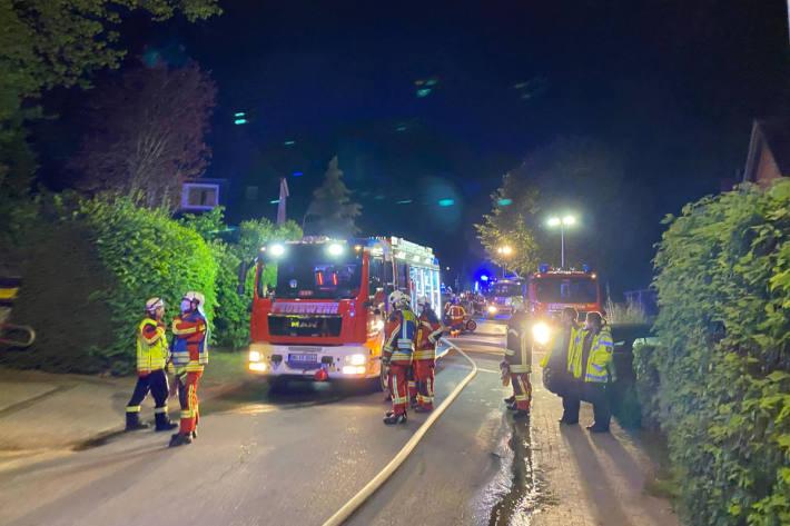 Wohnungsbrand mit schwerverletzter Person