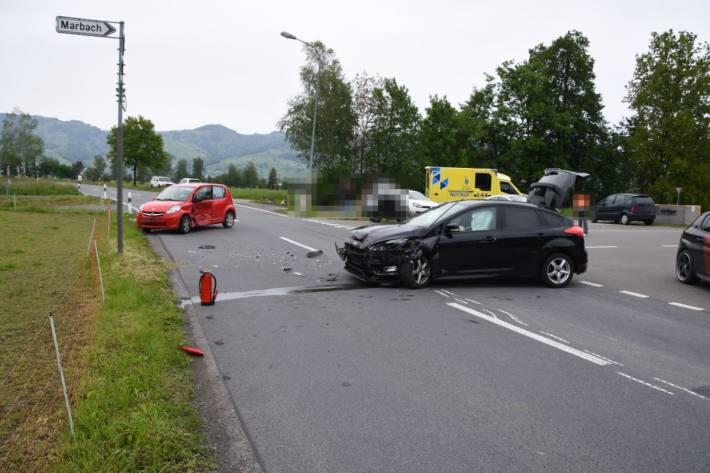 In Kriessern SG kam es gestern zu einem Unfall mit einem schwer Verletzten.